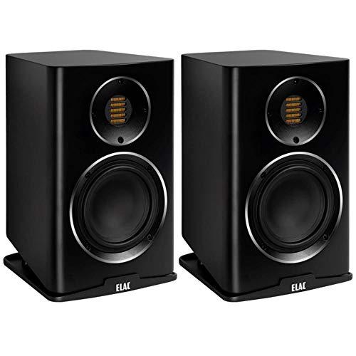 Elac BS243.4-SB Carina Premium - Altavoces para estanterías (par), color negro satinado