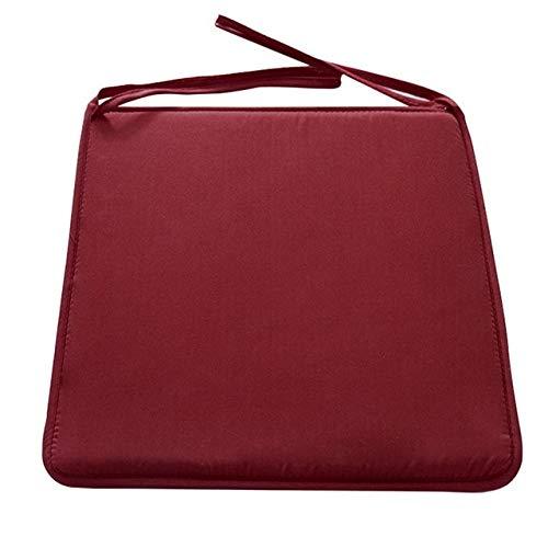 RAQ Bonbon tuinkussens, 1 stuks, van normale stof, zitkussen voor eetkamerstoelen, sofakussens van stof, creatief kussen, 37 x 37 cm 1pc Donker Rood