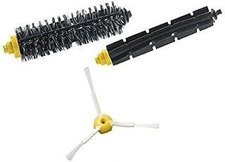 ルンバ600,700シリーズ ブラシ3点セット(メインブラシ、フレキシブルブラシ、エッジブラシ)グレー 互換品