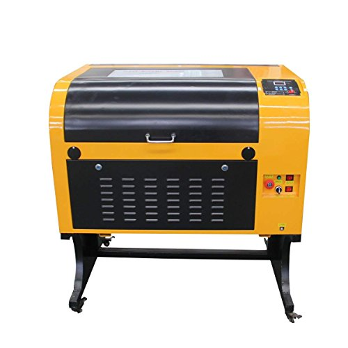 TEN-HIGH Upgraded Version CO2 400x600mm 50W 120V Laser Engraving Cutting Machine with USB Port