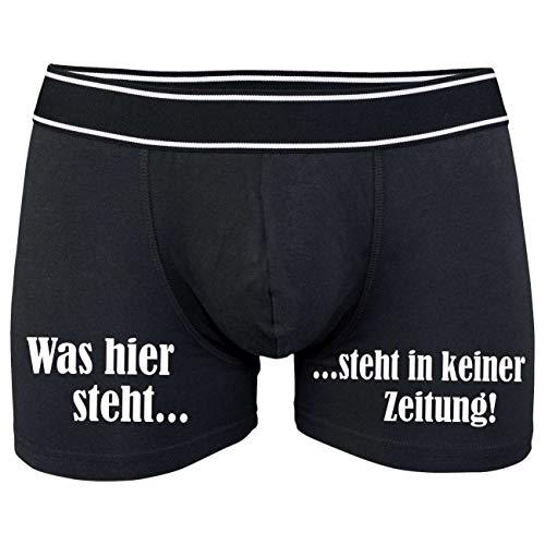 Männer Boxershort mit Spruch was Hier Steht. (Größe S bix XXXL)
