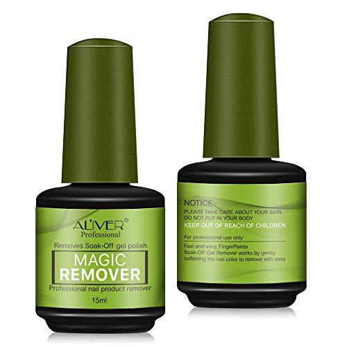 2packs Soak-Off Gel Polish Nail Remover Esmalte Extractor de Esmalte de Uñas Mágico Especial Eliminación de Estallido de Uñas Líquido Descarga de Pegamento Manicura Gel de Remojo