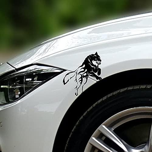 ESTORE-24 Reflektierender Aufkleber Auto Wolf Marks Aufkleber Sticker Wasserdicht Scheinwerfer Aufkleber Fit fürs Auto Motorrad Folie schwarz