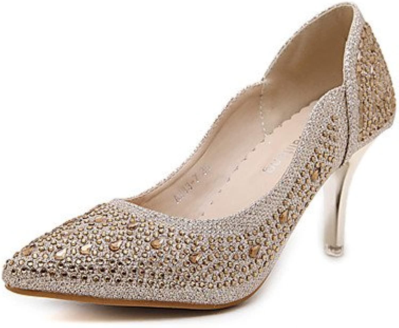 LvYuan-ggx Da donna-Tac -FormaleBasso-Tessuto-oro argentoo, oro, us7.5   eu38   uk5.5   cn38