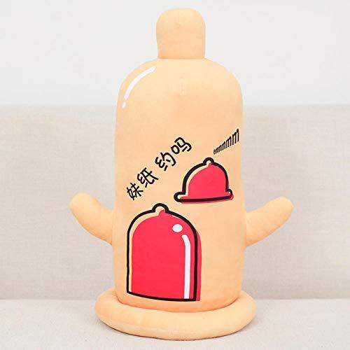 NIANMEI Nettes lustiges gesetztes Kondom-Plüschtier-weiche Kondom-Kissen-Puppen Junge/Mann/Freund/Freundin S Weihnachtsgeburtstags-Geschenk @ 50Cm_Orange