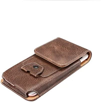 Premium PU Leather Vertical Case Belt Holster with Earphone Holder for Samsung Galaxy S9 Plus / S9 Active/Note 9 / Motorola Moto G6 Plus / G6 Play / E5 Plus / Z3 Play/Huawei Mate 20 Lite (Brown)
