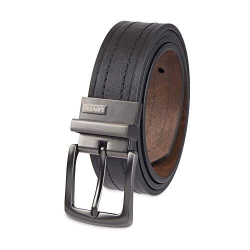 Levi's Men's 1 9/16 in. Reversible Belt-Black/Tan, 36