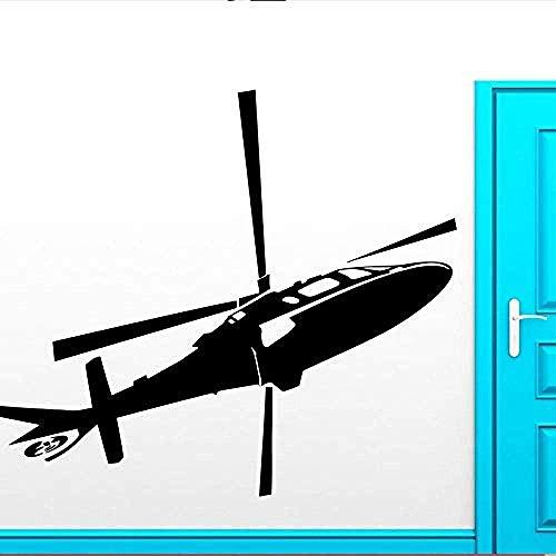 Muursticker,mode helikopter behang verwijderbare luchtmacht leger mode voor kinderkamer kinderkamer jongens muurstickers slaapkamer kunst decor 57x91cm