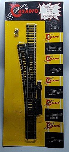 Mantua Model Casadio de cambio eléctrico izquierdo, escala Ho 1:87, níquel, diámetro 120 cm, 62608