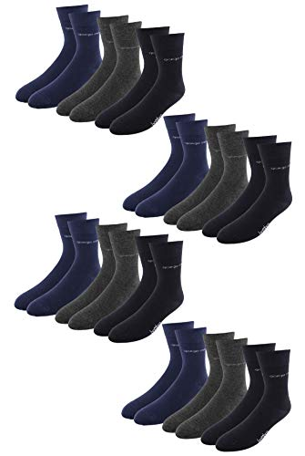 Giorgio Capone Premium bamboesokken, 12 stuks, superzacht, hoog draagcomfort, antraciet, donkerblauw, zwart: 39-42, 43-46