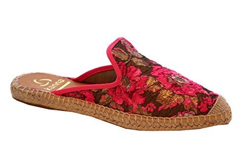 Kanna KV7502 Damen Espadrilles im Mule Stil mit bestickten Blumen (EU 41)