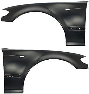 Titanium Plus Autoparts Compatible With BMW 328i Compatible With BMW 323i Compatible With BMW 325i Compatible With BMW 330i Front Left /& Right Side splash guard splash shield fender liner Liner Apron