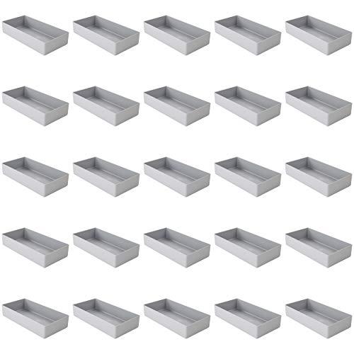 Kunststoff-Einsatzkasten E 40/1, Lagerbehälter, grau, 198x99x40 mm (LxBxH), 1 Packung = 25 Stück