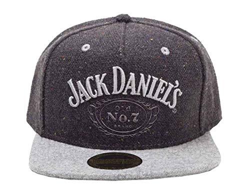 Jack Daniels Baseball Cap Schwarz classic Logo Nue offiziell Schwarz Snapback