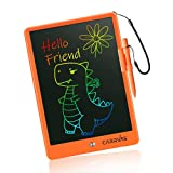 LCD Writing Tablet CARRVAS 10 Inch Colorful Drawing Pad for Kids Erasable Reusable Electronic Doodle Board Educational Learning Toy Gifts for 3 4 5 6 7 Years Old Toddler Boys Girls Home School(Orange)