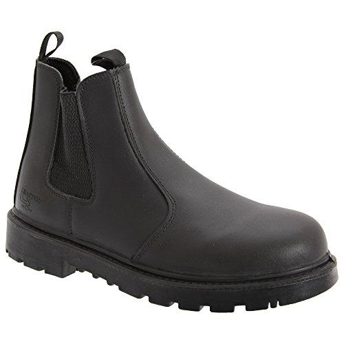 Grafters Herren Grinder Sicherheitsstiefel/Dealer Boots (50 EUR) (Schwarz)