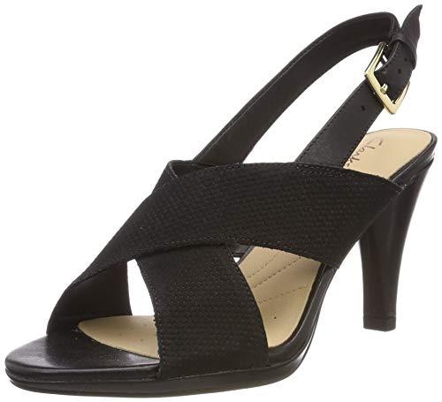 Clarks Dalia Lotus, Scarpe con Cinturino alla Caviglia Donna, Nero (Black Combi -), 40 EU