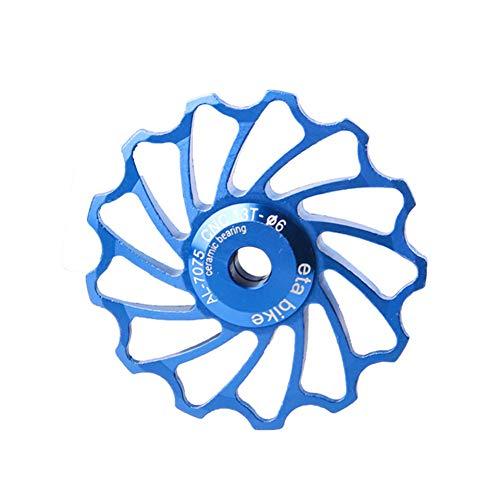 desviador Trasero Bicicleta roldanas MTB Rueda de Bicicleta de 13T Rueda de Bicicleta de 13T Desviadores Rueda Jockey Blue,1
