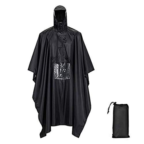 Black out RTC Poncho Impermeable SALEWA Puez Tec Hombre Negro