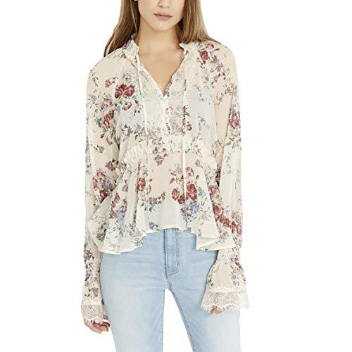 Buffalo David Bitton Damen Julieanne WT1375B Cotton Flowers Hemd, Baumwollblumen, Klein