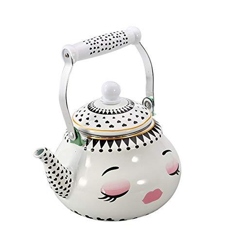 Review 1.5L-2.5L Enamel Cup Pear Shaped Pot Kettle Enameled Gas Kettle Enamel Coffee Pot Household K...