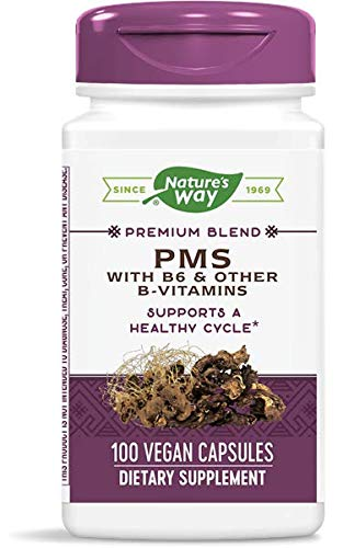 Natures Way PMS with Vitamin B6 and Other B-Vitamins 100 Capsules - 3...
