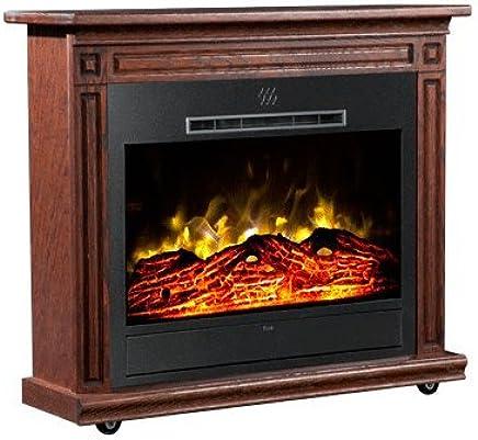 Amazon Com Heat Surge Roll N Glow Amish Electric Fireplace In Dark