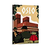 YGHJK Oslo Poster, dekoratives Gemälde, Leinwand,