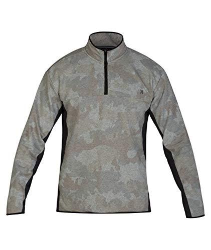 Hurley Men's Dri-Fit Naturals 1/4-Zip Fleece Top, Camo Green - Small