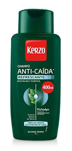 Kerzo Champú Anticaída Refrescante para Cabellos Grasos - 3 Recipien