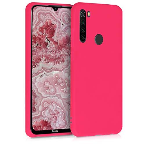 kwmobile Funda Compatible con Xiaomi Redmi Note 8T - Funda Carcasa de TPU Silicona - Protector Trasero en Rosa neón