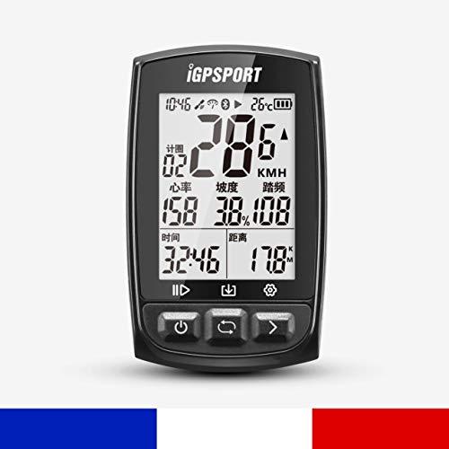 IGPSPORT iGS50E - Compteur de vélo GPS Polyvalent VTT Cadence Vitesse Waterproof Strava
