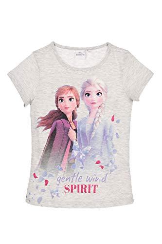 Die Eiskönigin 2 Anna und ELSA Mädchen T-Shirt (Grau, Größe 110)