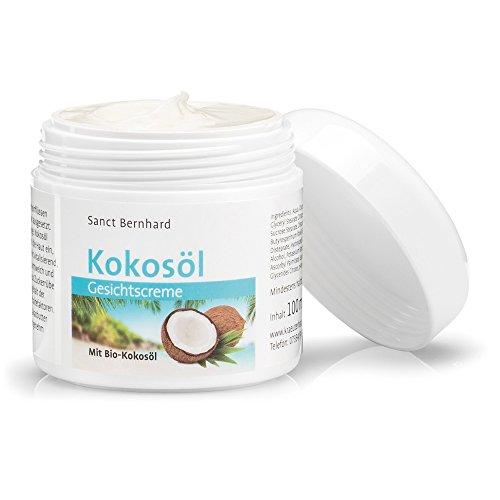 Kokosöl-Gesichtscreme intensiv pflegende, feuchtigkeitsspendende Gesichtscreme mit echtem Bio-Kokosöl, Inhalt 100 ml