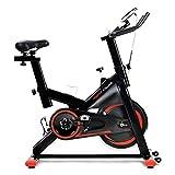 Betos Bicicleta estática, bicicleta estática, bicicleta estática, bicicleta de fitness, entrenamiento cardio, con consola LCD y volante de inercia de 10 kg, asiento y manillar ajustables