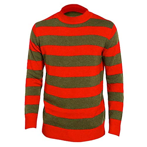 Classy Fashion Unisex Freddy Krüger Strick Pullover Horror Halloween Kostüm Top Kostüm Set & Zubehör Gr. M, Medium Jumper