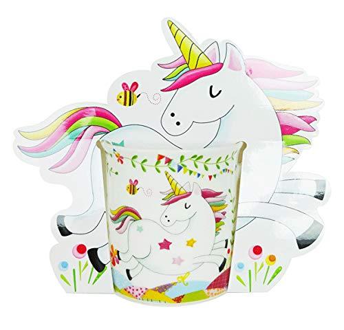 DISOK - Taza de Unicornio, presentada en bolsita de Regalo. Taza Original de niñas para comuniones, Eventos, Fiestas, cumpleaños.