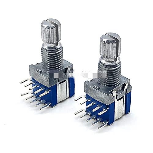 WHBGKJ Interruptor Giratorio 5pcs RS1010 Banda Interruptor de Banda Interruptor Giratorio Cambio de Cambio Interruptor 1 Poste 5 Posición 2 Poste 4 Posición 3 Posición (Color : 2 Pole 3 Position)