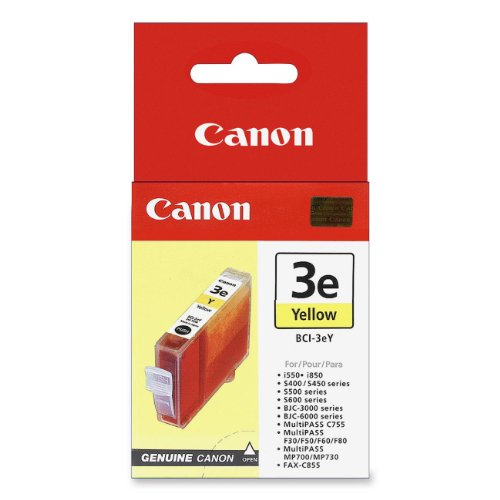 Genuine Canon BCI-3eY / 4482A003 Yellow OEM Ink Cartridge