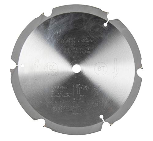 Metabo HPT Miter Saw/Table Saw Blade, 10-Inch, Fiber Cement Blade, 6-Tooth, Polycrystalline Diamond Tips (18108M)