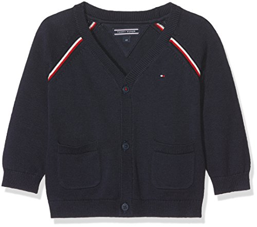 Tommy Hilfiger uniseks-baby gebreid vest GLOBAL STRIPE BABY BOY CARDIGAN