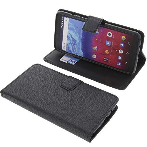 foto-kontor Tasche für Archos Core 57s Book Style schwarz Schutz Hülle Buch