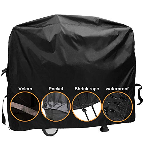 """Dekugaa Grill Cover,(58"""" Black) BBQ Special Grill Cover,Waterproof and UV Resistant Material, Durable and Convenient,Fits Grills of Weber Char-Broil Nexgrill Brinkmann and More (L)"""