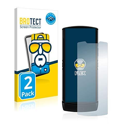 BROTECT Full-Cover Schutzfolie kompatibel mit Motorola Razr 2019 (2 Stück) - Full-Screen Bildschirmschutz-Folie, 3D Curved, Kristall-Klar