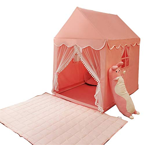 Tents House, Playhouse with Mat, Princess for Reading, Boys & Girls Play Tale Dream for Kids (Color : Pink, Size : 93 * 125 * 140CM)