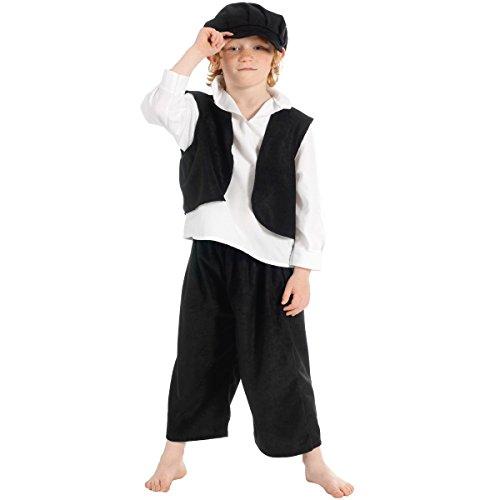 Victorian - Disfraz de campesino para niño, talla 140 cm
