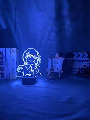 3D noche lightLed noche luz anime ataque a Titan Mikasa Ackerman lámpara para decoración de habitación luz fresca regalo de cumpleaños mesita de noche lámpara de escritorio batería ASQWZX