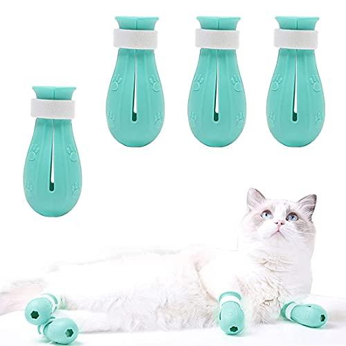 SSZJ Zapatos para Gatos, Protector De Silicona Ajustable para Patas De Gato, Aplicar para Zapatos Protectores De Patas De Gato para El Baño del Hogar