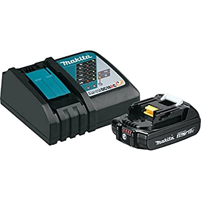 Makita BL1820BDC1 Compact Lithium-Ion Battery and Charger Starter Pack, 18V