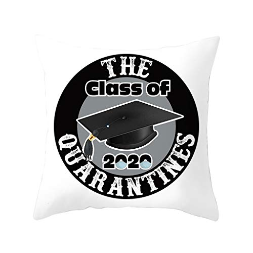 Watopi Graduation Gifts 2020 Cotton Cushion Cover Throw Pillow Case Sofa Home Decor